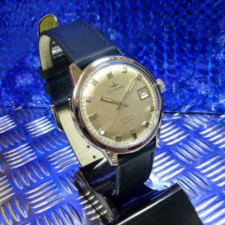 Echte 70èr Vintage Dugena Tropica Automatic Datum Edelstahl 36,  8 Mm Herrenuhr Bild