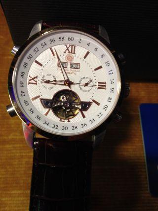 Constantin Durmont Herren Armbanduhr Lafitte Cd - Lafi - At - Lt - Stst - Wh Automatik Bild