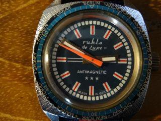 Aussergewöhnliche Ruhla De Luxe Vintage Herrenarmbanduhr Hau Automatik Bild
