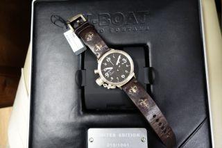 U - Boat Flightdeck Automatic Chronograph Uhr 925 Silber GehÄuse 50mm Bild