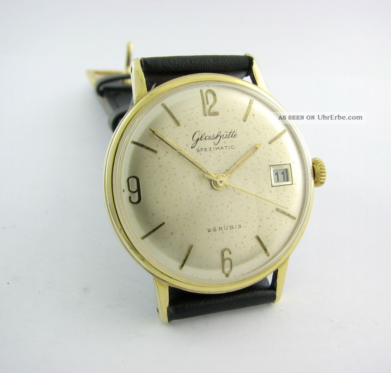 Rarity. Glashutte Spezimatic. 26 Rubis. Gold Plated