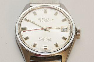 Kienzle Herrenuhr Armbanduhr Uhr Automatic Um 1956 Datumsanzeige Funktion Ok Bild
