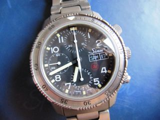 Sinn Taucherchronograph Automatic Titan,  Valjoux 7750 Bild