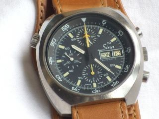 Vintage Sinn 142 Fliegerchronograph Lemania 5100 Bild