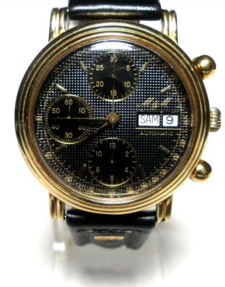 M & M - Automatic Chronograph - Herren Armbanduhr - Eta / Valjoux 7750 Bild