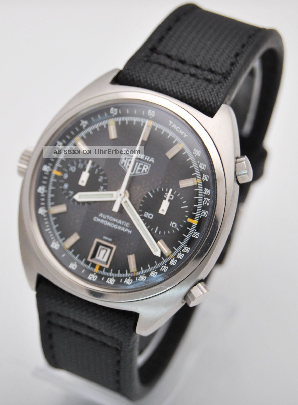 Heuer Carrera Chronograph,  Ref.  110.  253,  Cal 12 Movement.  2 Register & Date Rare Armbanduhren Bild