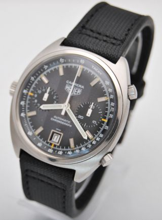 Heuer Carrera Chronograph,  Ref.  110.  253,  Cal 12 Movement.  2 Register & Date Rare Bild
