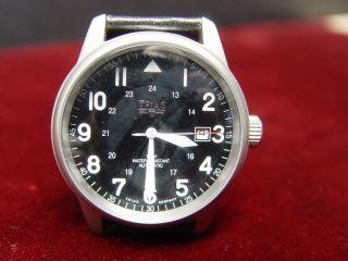 Trias T22337 - 55 Flieger Uhr Automatik Stainless Steel Bild