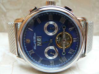 Raoul U.  Braun Rub 05 - 0188 Automatikuhr Chronograph Edelstahl Analog Uhr Bild