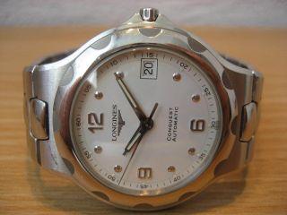 Longines Conquest Automatic,  Datum,  Stahl Mit Stahlband,  L1.  634.  4,  Sehr Schön Bild