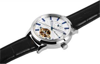 Ø45mm,  Engelhardt Uhr Automatik,  2 Zeitzonen Herrenuhr Offene Unruh 388922529007 Bild