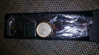 Kronsegler Dr.  House Herren Uhr Chronograph Vergoldet - Silbern & Ovp Bild