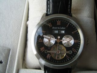 Rover & Lakes Classic Armbanduhr Automatik Mit Glasboden Bild