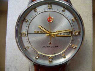 Vintage Rado Silver Star 1980 Automatik Bild