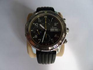 Sinn Taucherchronograph Valjoux Eta 7750 Mit Haendlergarantie Bild
