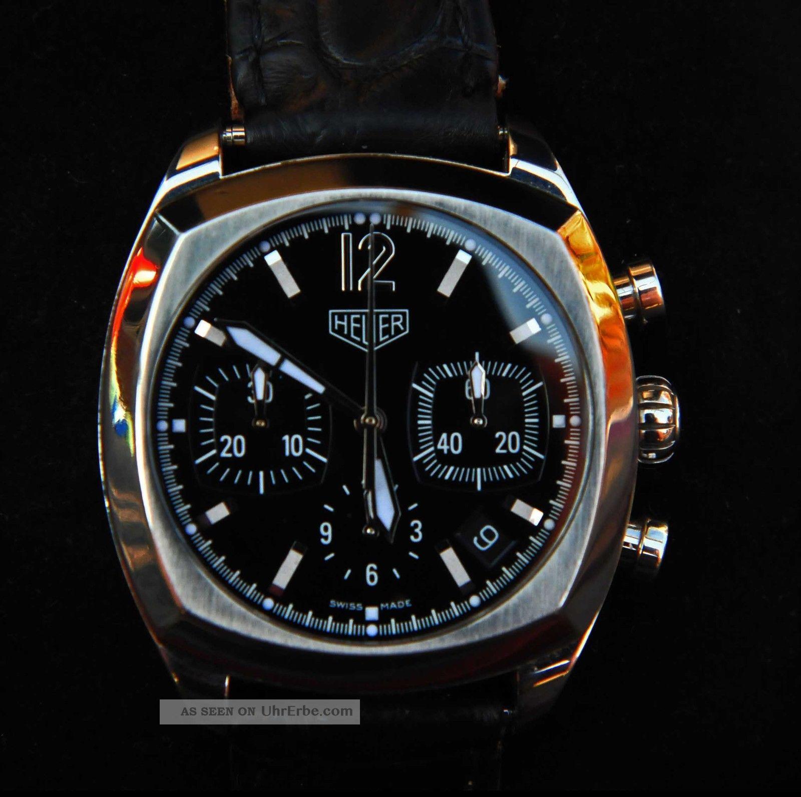 Tag Heuer Monza Calibre 17 Chronograph Cr 2110 Kroko - Faltschließe Armbanduhren Bild