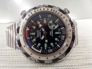 Mortima Calender Automatic Alte Armbanduhr Old Mens Wrist Watch Vintage Bild