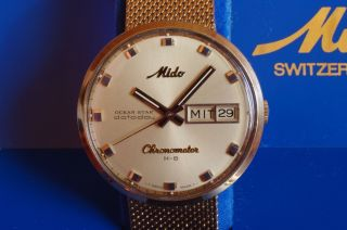 Mido Ocean Star Datoday Chronometer H - B Ref.  9369 Mit Cal.  1157 Ocd 36000 A/h Bild