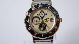 Corum Admirals Cup Marees Automatik Stahl/gold 18k Mondphase Bild