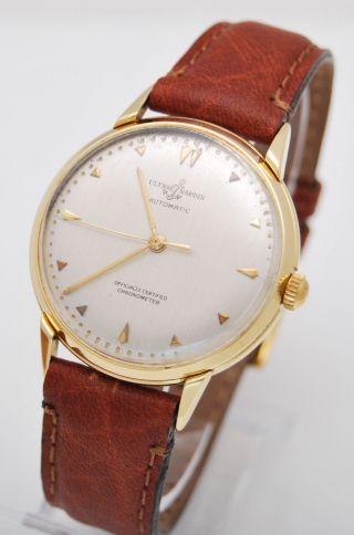 Ulysse Nardin Vintage Chronometer Herren Uhr Automatic 750 Gold Bild