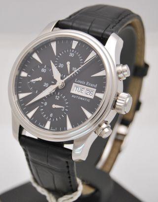 Louis Erard Herren Chronograph Automatic Stahl Box & Papiere 2011 Ungetragen Bild