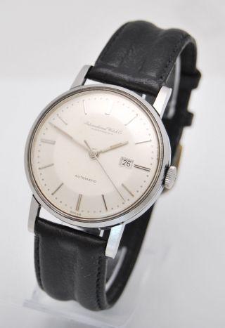 Iwc Vintage C.  8531 Herren Uhr Automatic Stahl Und Lederband Bild