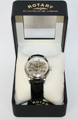 Rotary Herren Armbanduhr Timepieces Gs02518/06 Automatik Leder Uvp 225,  00€ Bild