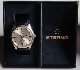Vintage Armbanduhr Automatic Eternamatic 1000 5 Star In Edelstahl – Cal.  1479k Bild