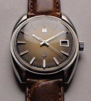 Vintage Armbanduhr Automatic Tissot Seastar In Edelstahl Mit Braunem Zifferblatt Bild