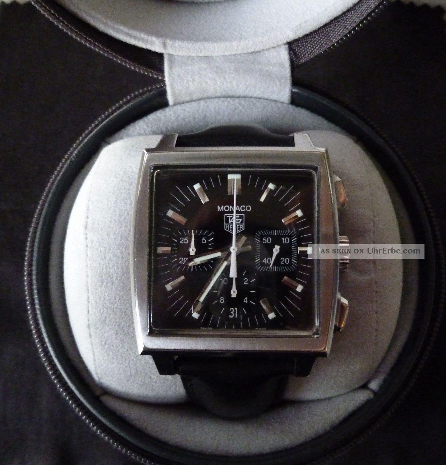 Tag Heuer Monaco Cw2111 - 0 Mit Box Und Garantiekarte Armbanduhren Bild