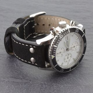 Jaques Lemans Chronograph 1 - 1059 Valjoux 7750 Mit Leder Und Orginal Stahlband Bild