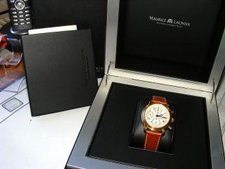 Maurice Lacroix Masterpiece Day Date Automatik Luxus Sammleruhr Mit Uhrenbox Bild