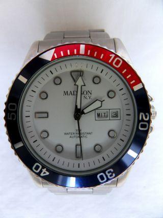 Madison Automatik Armbanduhr,  Stahl,  Mit Glasboden,  Uhr Bild