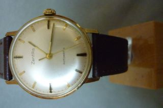 Herrenuhr Zentra Automatic 25 Jewels Uhr Armbanduhr Bild