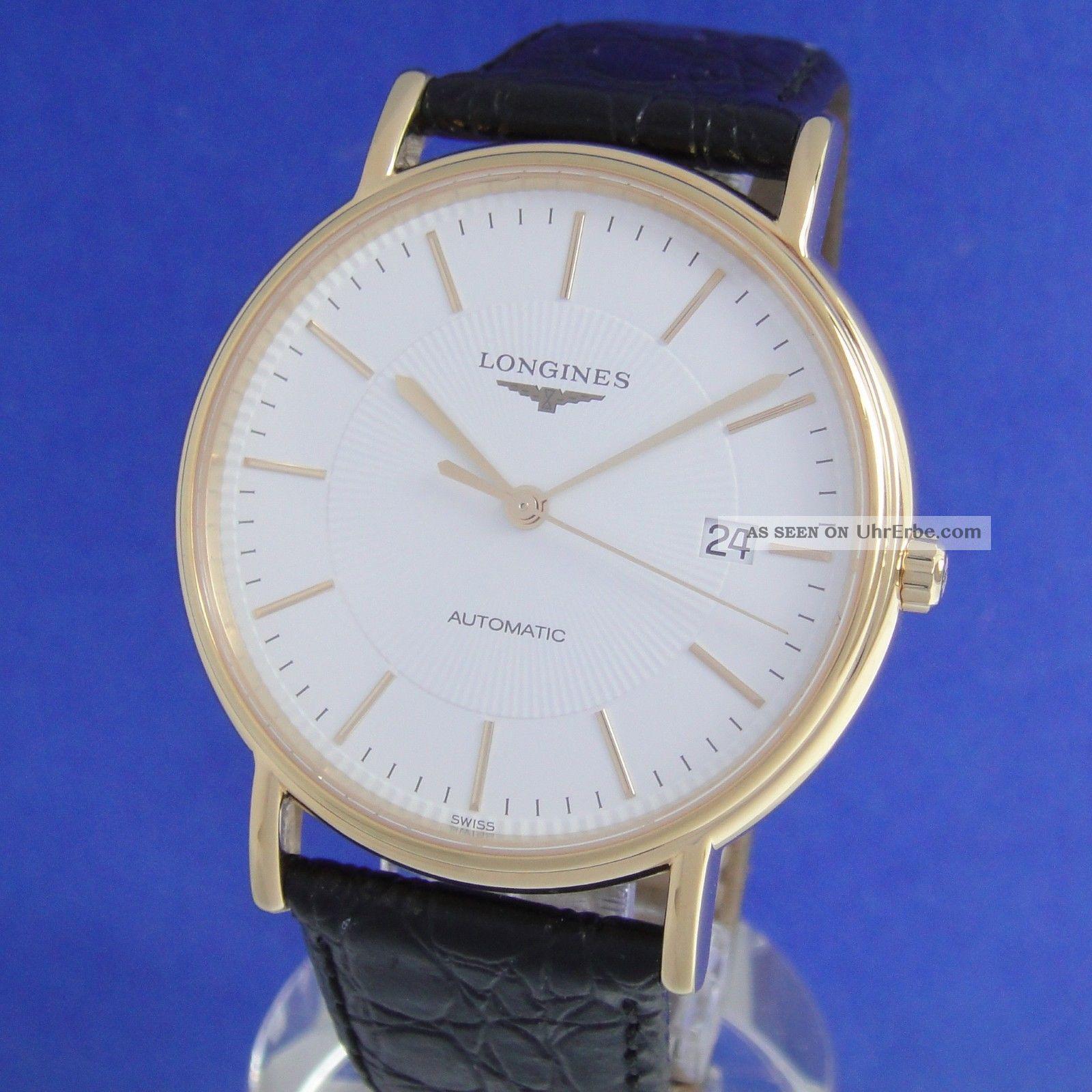 Longines Presence Automatik Herren Au Vergoldet Top Armbanduhren Bild