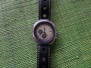 Bucherer Chronograph,  Hau,  70er - Jahre,  Stahl,  Automatic Omega Cal.  1040 (lemania 1340) Bild