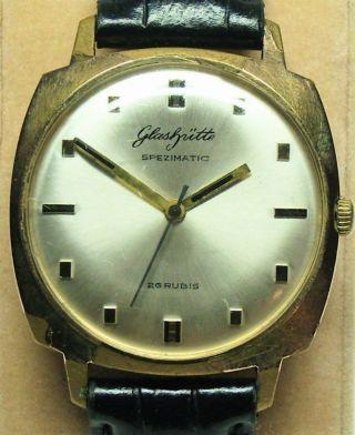 Glashütte Spezimatic Herren - Armbanduhr Um 1970,  Funktionstüchtig,  26 Steine Bild