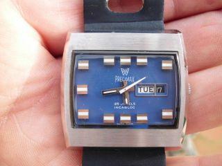 Ungetragen - 1970 - Alte Herrenuhr Automatic Precimax 25 Jewels - Swiss Made Bild