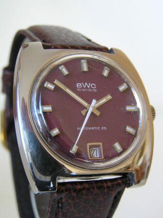 Klassische Bwc Swiss Automatic Herrenuhr Mit Eta 2783 Im Edelstahlgehäuse Bild