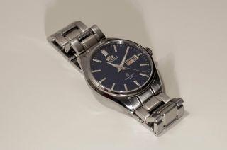 Orient Dresswatch Automatik - Blau - Saphirglas - Edelstahl/leder - Cem6w001d2 Bild