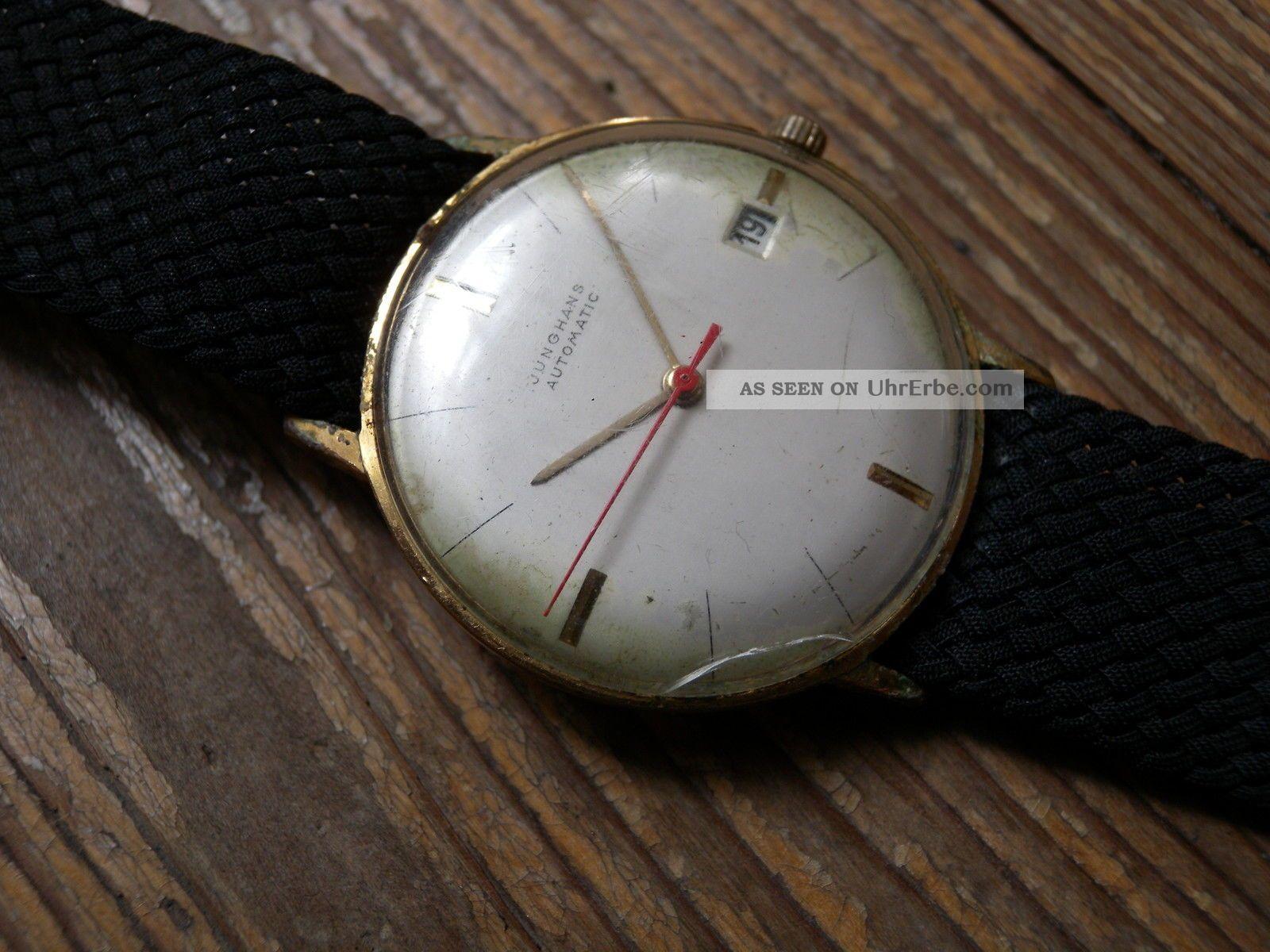 junghans automatic uhr gold max bill design vintage junghans watch cal 51. Black Bedroom Furniture Sets. Home Design Ideas