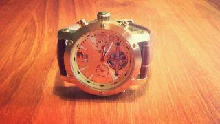 Herren Automatik Gold Herren Xl Chronograph - Neuwertig - Edel - Np 399 Pfund Bild