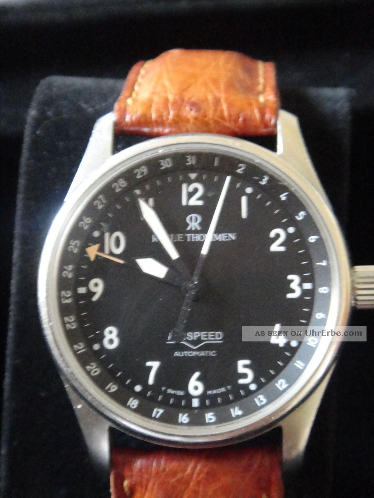 Revue Thommen Airspeed 36 Mm Automatik Mit Drei Armbändern,  Box Und Papieren Top Armbanduhren Bild