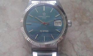 Eterna - Matic 1000 - 5 Star (eta 2824 - 2) With Blue Dial (35mm) Bild