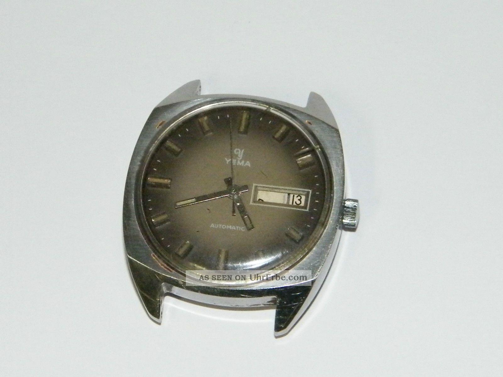 Yema Automatic,  Ebauche Bettlach,  Hau Wrist Watch,  Montre,  Repair,  Läuft Armbanduhren Bild