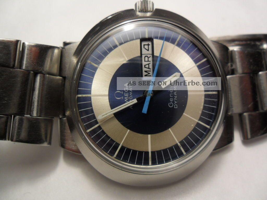 Omega Dynamic Geneve Automatic Edelstahl Day - Date 70 Jahre Armbanduhren Bild