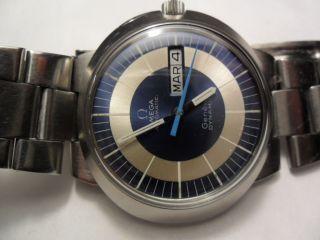 Omega Dynamic Geneve Automatic Edelstahl Day - Date 70 Jahre Bild
