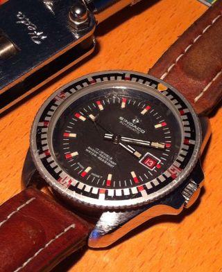 Vintage Taucheruhr Sindaco Automatic Neues Werk Ronda 1238 - 17jewels Bild