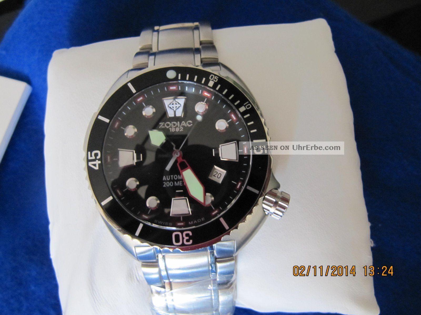 Taucher Zodiac Oceanaire Automatic Armbanduhren Bild