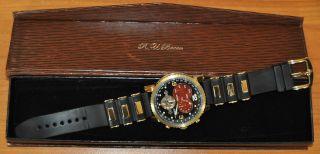 Armbanduhr R.  U.  Braun Rub 05 - 0051 Schwarz Rot Gold Bild